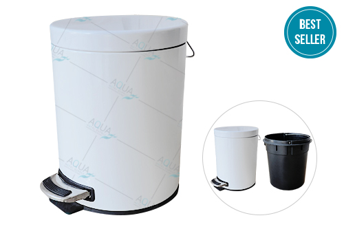 Stainless Steel Foot Pedal round bin