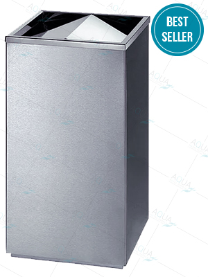 Stainless Steel Swing lid round bin